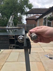Bi-Folding door roller