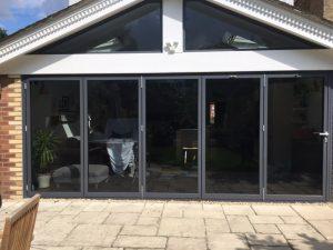 Aluminium bifold door repair