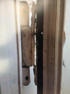 Broken UPVC Door Hinge