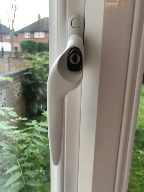 Espag uPVC Window Handle Left Handed in White