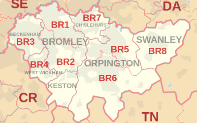 Bromley Postcode Map