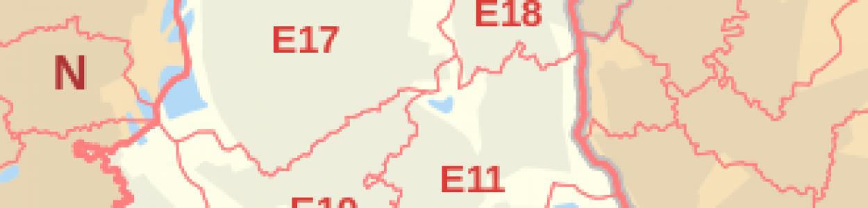 East London Area Map