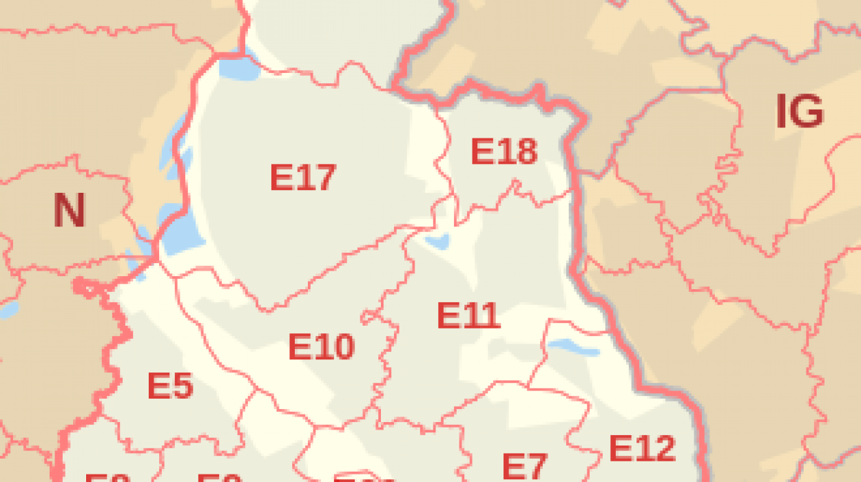 East London Area Map