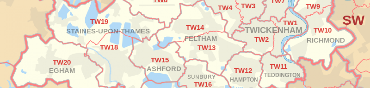 Twickenham Postcode Map
