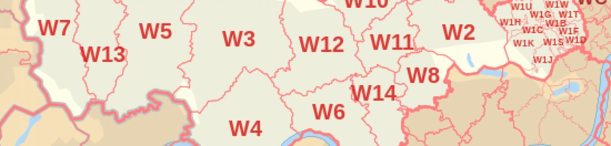West London Postcode Map