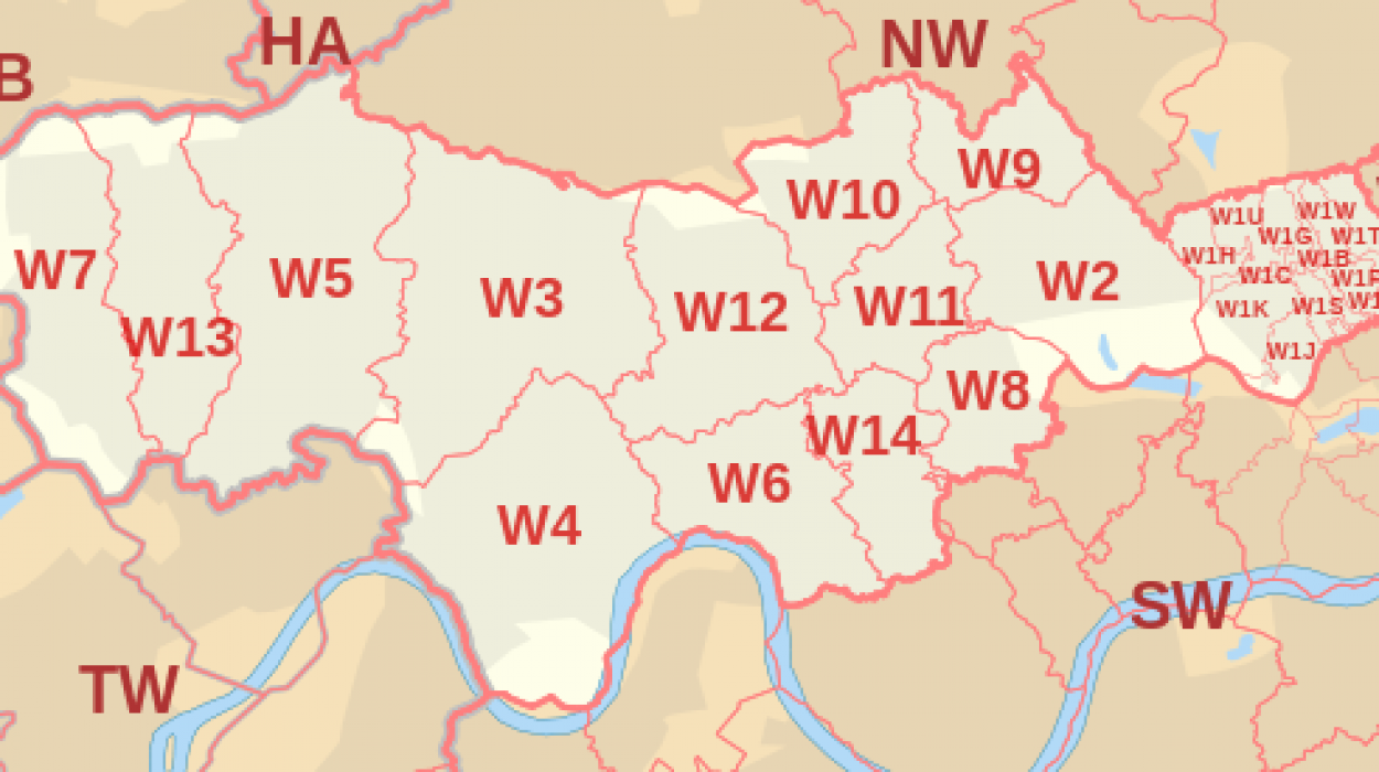 West London Postcode Map